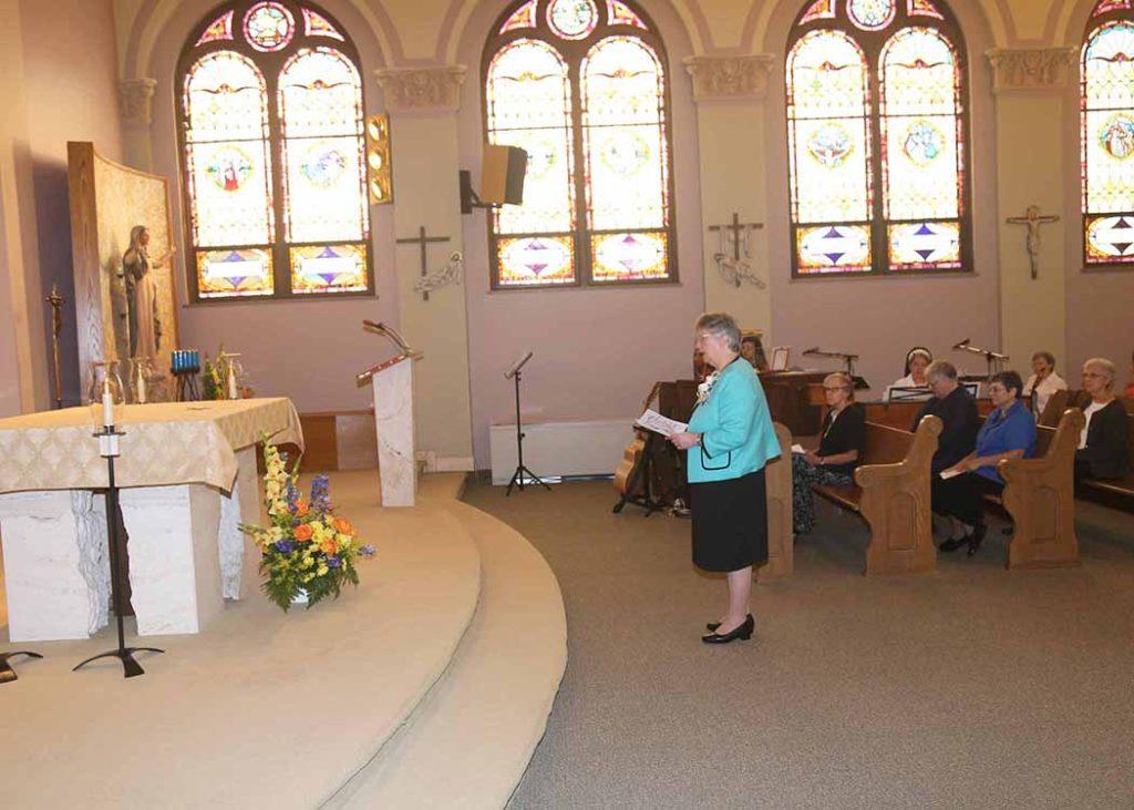 Sister Cynthia renews her vows.